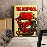 XWArtpic Klassische Retro Cartoon Amerikanischen Superhelden Supermacht Film HD Poster Bar Schlafzimmer Home Kinderzimmer Dekoration leinwand malerei 40 * 50 cm