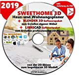 Sweet Home 3D Version 6.0 'SWEET HOME 3D' 2019 Haus-und Wohnungsplaner 3D Software Premium PLUS= BLENDER und LIBRE-CAD