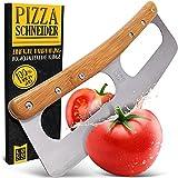 Loco Bird Pizzaschneider - Pizzamesser aus Edelstahl mit Bambusgriff - Pizzacutter mit...