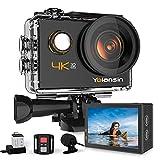 Yolansin Action Cam 4K 20MP WiFi 40M wasserdichte Unterwasserkamera EIS Sportkamera mit...