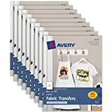 Avery T-Shirt-Transfers für Inkjet Drucker, hellen Pack of 9