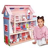 Infantastic® XXL Puppenhaus aus Holz mit LED - 3 Spielebenen, Möbeln/Zubehör, für 13cm...