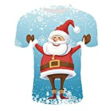 Hniunew Weihnachtst-Tshirts Damen Herren Party Oberteile Weihnachtspullis Active Shirt PäRchen Statement Bedrucken Basic T Shirt Tops O-Neck Hemd Smokinghemd Kurzarmhemden Streetwear