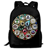 TTmom Schulrucksack,Schüler Bag,Rucksack Damen Herren MTG Stained Glass Unisex Backpack Shoulder Bag School Backpack Travel Bags Laptop Backpack
