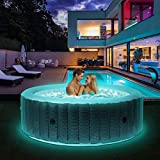 Miweba MSpa aufblasbarer Whirlpool 2021 Starry C-ST061 Outdoor - inkl. LED Band - 138...