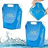 Tuofang 3 Pack Wasserbehälter, Wassersäcke Faltbare, 1 * 5L + 2 * 10L Tragbar Faltbarer...