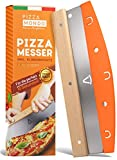 Pizza Mondo® Pizzaschneider - Profi Pizzamesser (Pizza Cutter) effektiver als Pizzaroller...