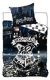 BrandMac ApS Harry Potter Kinder-Bettwäsche Bettbezug 135x200 80x80 Baumwolle Hogwarts...
