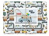 dabelino® Geschenkpapier'Auto/Kinder/Fahrzeuge' für Jungen und Mädchen: 4x Bögen + 1x...
