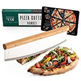 DOLCE MARE® Pizzaschneider - Vielseitig einsetzbares Wiegemesser mit edlem Griff aus...