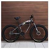 Unbekannt Mountain Bikes, 26-Zoll-Fat Tire Hardtail Mountainbike, Alurahmen Alpine...