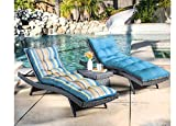 Outdoor Decor Mosiac Stripe Lounge Chair Kissen Multi