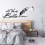 YOKIKI la Vie est Belle Zitate Aufkleber Abnehmbare Vinyl Wandbild Poster für Home Decor...