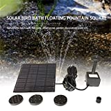Fashion Square Form Solar Panel Wasserpumpe Kit Brunnen Pool Gartenteich Tauchbewässerung Vogel Bad Tank Set - Schwarz