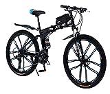 26 Zoll Mountainbike Faltrad für Erwachsene 27-Gang-Doppelscheibenbremse Volle...