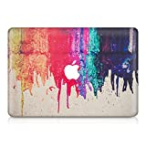 kwmobile Aufkleber Sticker kompatibel mit Apple MacBook Air 13' (2011-Mitte 2018) - Skin Folie Vorderseite Decal Regenbogen laufende Farbe Mehrfarbig Rot Beige