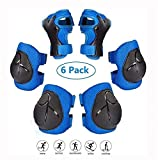 Copper Kids Protective Gear Set, 6 in 1 Kinder-Knieschützer Ellbogenschützer Handgelenkschutz 6-TLG. BMX Skateboard Inline Skatings Bike Scooter Riding Sports