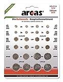 Arcas 127 52400 - Alkaline und Lithium Knopfzellen Sortiment, 24 teilig, 16x Alkaline und...