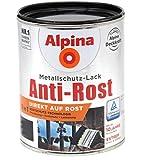 Alpina 3in1 Metallschutz-Lack Anti-Rost 1L anthrazit matt Ral 7016