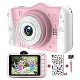 Kinderkamera - Digitalkamera Kinder mit 3,5-Zoll-Großbildschirm 1080P HD 12MP Eingebaute...