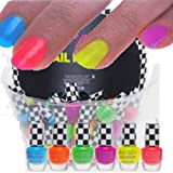 6x farben Brillianter Neon Nagellack  Nail Polish Party Brights WoW 6x 4,5ml