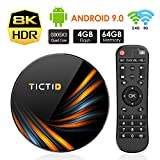 TICTID Smart TV Box【4GB+64GB】 Android TV Box TX6 Plus mit S905X3 Quad-Core Cortex-A55 unterstützt 8K/HD/ WiFi 2.4G/5G/USB 3.0/USB 2.0 Android 9.0 TV Box