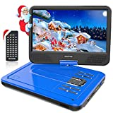 WONNIE 2019-Upgrade 10.5' Tragbarer DVD-Player, Schwenkbaren Bildschirm, HD Display 4-5 Stunden Akku, USB/SD Slot, Kinder (Blau)