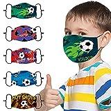 Lomelomme 5-Stück Kinder Mundschutz mit Motiv Waschbar Multifunktionstuch Schmetterling...