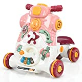 GOPLUS 3-in-1 Lauflernwagen, als Spielzentrum Lauflernhilfe Rutschauto, Abnehmbares...