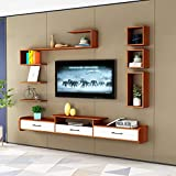 Wand-TV Schrank Schlafzimmer Wohnzimmer Mit Schublade Schwimmende Regale Wandregal Set-Top-Box Router Foto Spielzeug Lagerregal TV-Konsole TV-Ständer (Color : F, Size : 120CM)