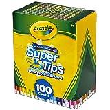 Crayola Super Tips Filzstifte, waschbar, mehrfarbig, 100 Stück
