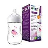 Philips Avent Natural Flasche SCF070/25, 260 ml, naturnahes Trinkverhalten, Anti-Kolik-System, Design Einhorn, 1er Pack