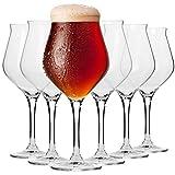 Krosno Bier-Tulpen Bier-Gläser   Probierglas   Set von 6   420 ML   Avant-Garde...