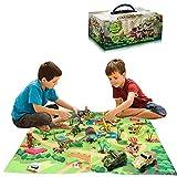 Wenosda Dinosaurier Spielzeugfigur mit Spielmatte,Dinosaurier Spielzeug Set Dino Spielset...