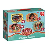 Jumbo Spiele Disney 19675 - Elena of Avalor, 4in1 Konturenpuzzle