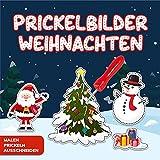 Prickelbilder Weihnachten: Prickeln, Malen und Ausschneiden - Prickelblock für Mädchen...