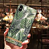 WotheCase Handyhülle,Für Das iPhone 11 7 8 7 8 Plus X Xs Xr Xs Max Case,Geprägte Anlage Green Banana Leaf Pattern Design Weiche Flexible TPU Zurück Hülle,for iPhone 11 6.1(Inch)