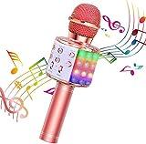 BlueFire Karaoke Mikrofon, Bluetooth Mikrofon Kinder, Tanzen LED Lichter Drahtlose...