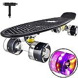 Skateboard Komplette Mini Cruiser Skateboard für Kinder Jugendliche Erwachsene, Led...