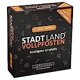 DENKRIESEN - Stadt Land VOLLPFOSTEN - Das Kartenspiel - Classic Edition | Wichtelgeschenk...