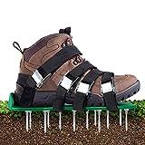 Aunus Rasenbelüfter Rasenlüfter Vertikutierer Rasen Vertikutierer Rasen Nagelschuhe mit...