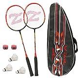 Philonext Badmintonschläger Set mit 3 Federbällen & Tragetasche & 2 Overgrip, Carbon...