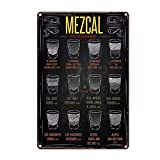 KE OU Mezcal Beer Tin Sign Metal Plaque Vintage Iron Painting Art Work Warning Store Home Yard Cafe Bar Kitchen Lounge