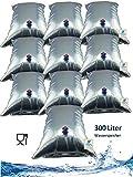Superfind24 Wasserbeutel, Wassersack, 10x30 Liter Prepper Wasser Notfallvorsorge Beutel...
