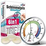 Schimmeltest + Thermohygrometer: Zum Check der Schimmelbelastung für bis zu 6 Räume....