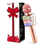 Fede Karaoke Mikrofon, Drahtloses Bluetooth Mikrofon für Kinder, Lustige Geschenke...