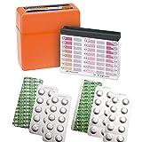 harren24 Pooltester Testkit für pH-Wert/freies Chlor/Brom inkl. 60 Testtabletten (Rapid)...