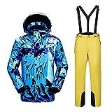 Schneesicher, zweiteiliger Winter-Skianzug mit Kapuze und Skihose, schnelltrocknend, warm,...