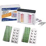 harren24 Pooltester Testkit für pH-Wert/freies Chlor/Brom inkl. 40 Testtabletten (Rapid)...