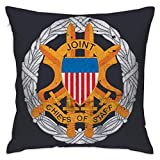 FPDecor Kissenbezug mit Reißverschluss, US Army Retro Joint Chiefs of Staff Emblem Soft Throw Pillowcase for Home Decor 18 X 18 Inches